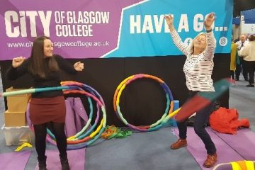 Rebecca and Maggie having a hula'va time!